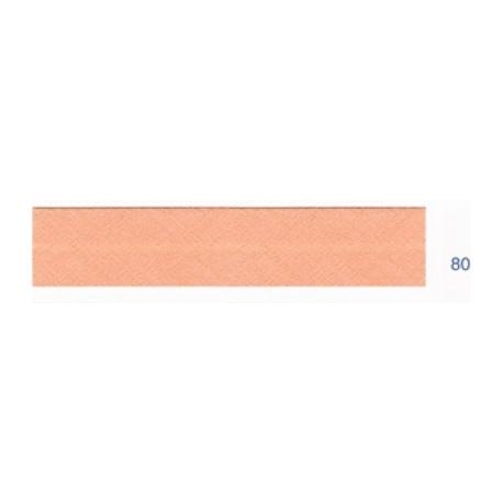 Biais polyester unis rose orangé 80
