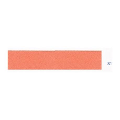 Biais polyester unis saumon 81