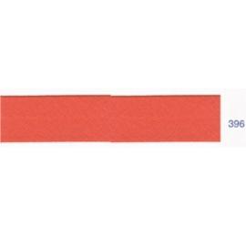 Biais polyester unis corail foncé 396