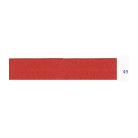 Biais unis rouge foncé 46