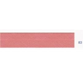Biais polyester unis vieux rose 83