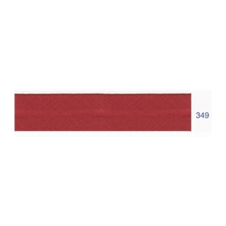 Biais polyester unis marron rose 349