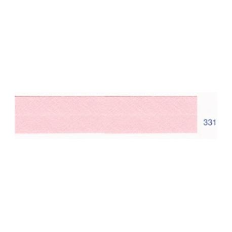 Biais polyester unis rose clair 331