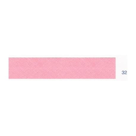 Biais unis rose 32