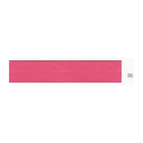 Biais polyester unis rose nacarat 35
