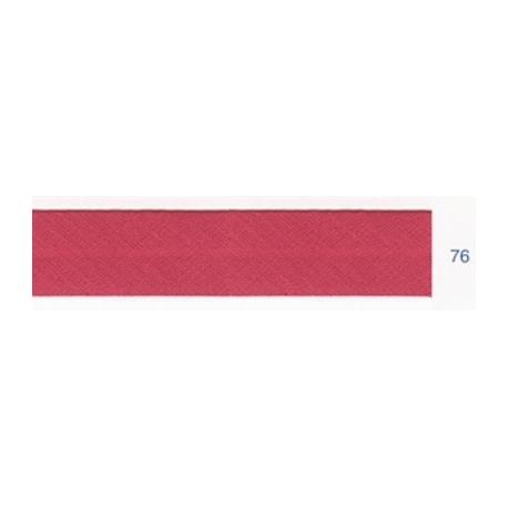 Biais polyester unis rose pourpre 76