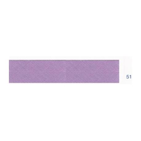 Biais polyester unis violet prune 51