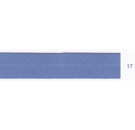 Biais unis bleu acier 17