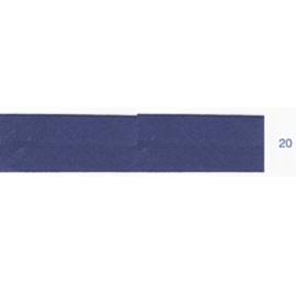 Biais unis bleu foncé 20