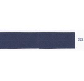 Biais unis bleu gris 322